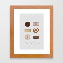 Never Gonna Give You Up, Kitchen Decor Framed Art Print