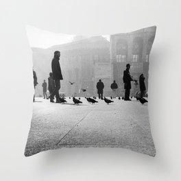 Duomo Square - Milan- Italy Photo by Andrea Scuratti Throw Pillow
