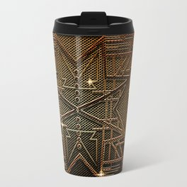 Abstract metal structure Travel Mug