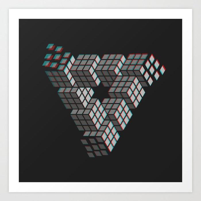 I'M PUZZL3D Art Print