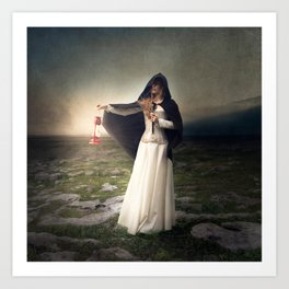 For those with eyes - Fine art magical portrait Art Print