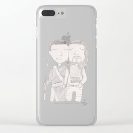 Chirrut and Baze Clear iPhone Case
