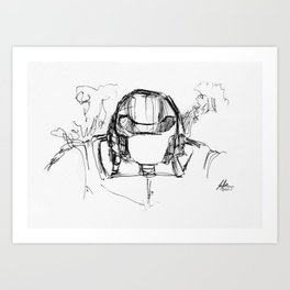 Warbot Sketch #020 Art Print
