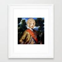 lamb Framed Art Prints featuring Lamb by DIVIDUS