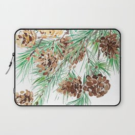 pine cones watercolor Laptop Sleeve