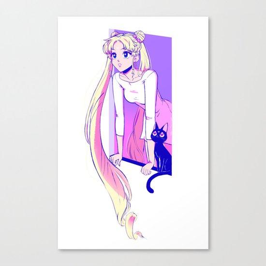 Sailor Moon Art Print Canvas Print
