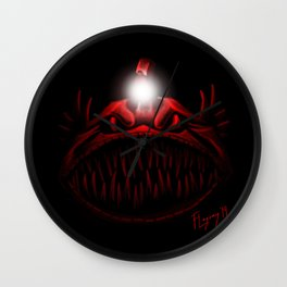 The Light Is Hungry Wall Clock