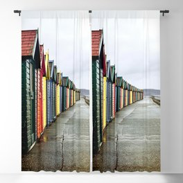 Whitby beach huts Blackout Curtain
