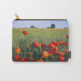 Poppies growing wild in a field of rapeseed. Castle Acre, Norfolk, UK. Carry-All Pouch