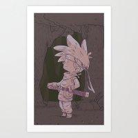 chrono trigger Art Prints featuring Chrono by lxromero