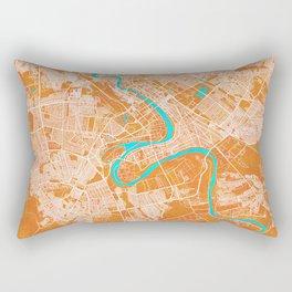 Baghdad, Iraq, Gold, Blue, City, Map Rectangular Pillow