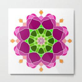 Mandala in crazy colors Metal Print