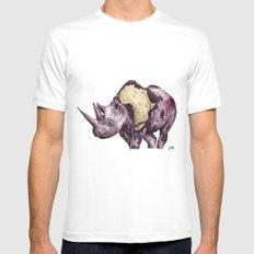 rhino White MEDIUM Mens Fitted Tee