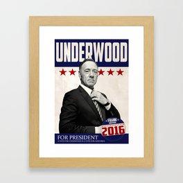 Underwood for President Framed Art Print