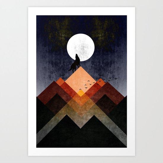Wolf Home Art Print