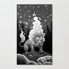 Roaring Fire Canvas Print