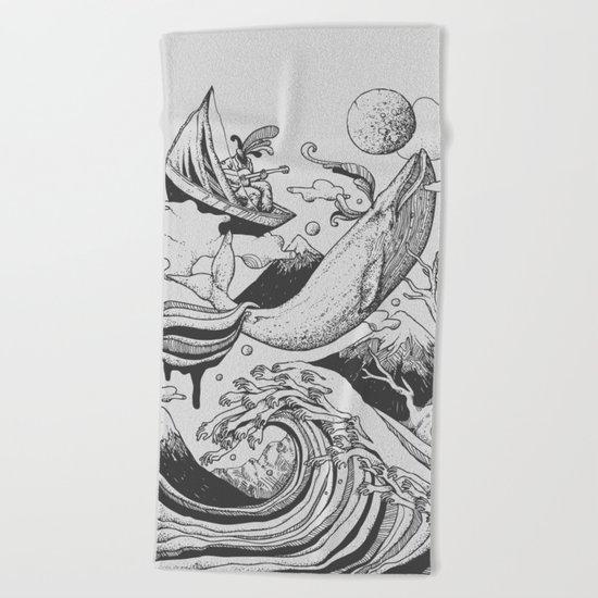Deep and Blue Beach Towel