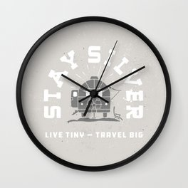 """Stay Silver"" Retro Type (gray) Wall Clock"