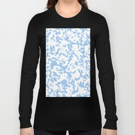 Spots - White and Baby Blue Long Sleeve T-shirt
