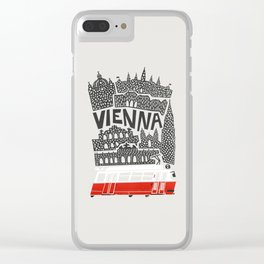 Vienna City Print Clear iPhone Case