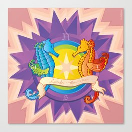 Cavalos Marinhos (Seahorses) Canvas Print