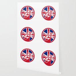 British Lit Operator Union Jack Flag Icon Wallpaper