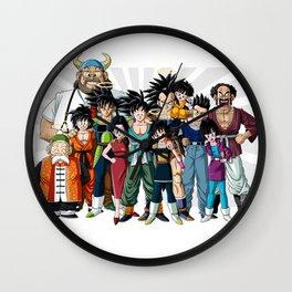 Family of King Monkey Wall Clock