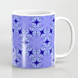 Christmas Blue Night Snowflake Pattern Coffee Mug