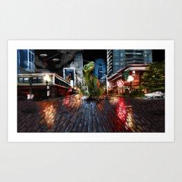 Nightlife in Seattle Art Print