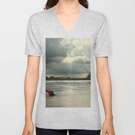 River Scene Unisex V-Neck