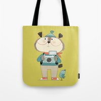 photographer Tote Bags featuring photographer by kate hindley