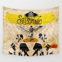 steampunk Wall Tapestries featuring SteamPunk by Genco Demirer