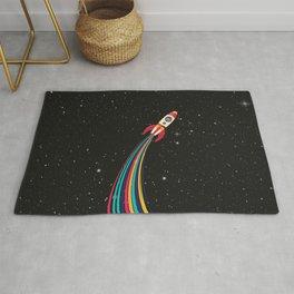 Colorful Spaceship Rug