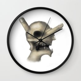 Skull and fingers Wall Clock