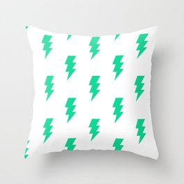 BOLT ((emerald green)) Throw Pillow