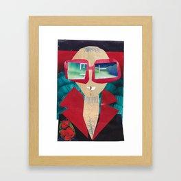 Rocket Man #PrideMonth Collage Portrait Framed Art Print