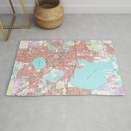 Lakeland Florida Map (1975) Rug