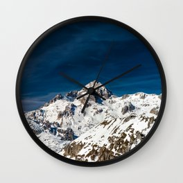 Gigapixel photograph of mountain Triglav, Slovenia Wall Clock