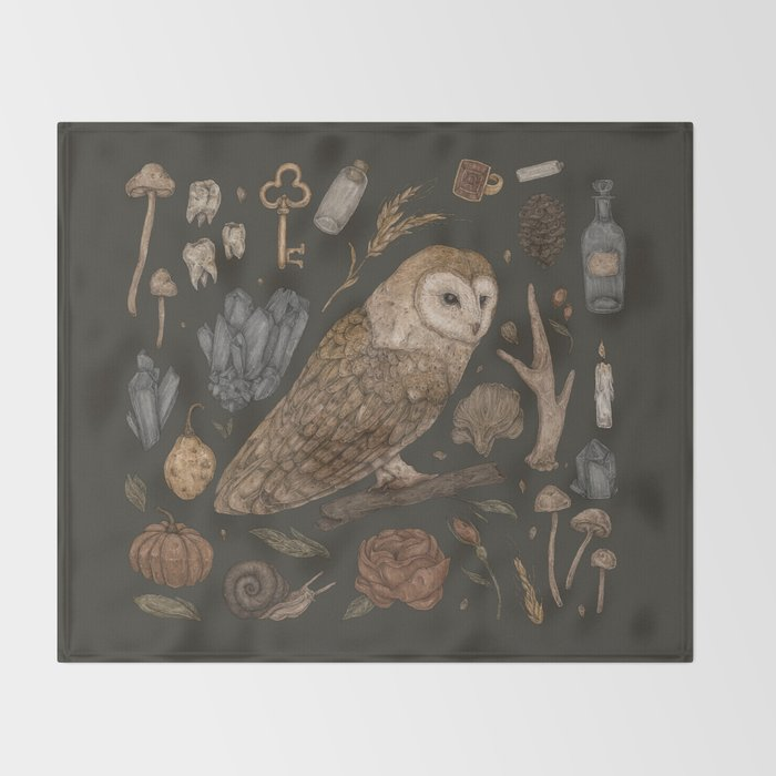 Harvest Owl wall tapestry by Jessica Roux