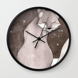 Myobu Kitsune Wall Clock