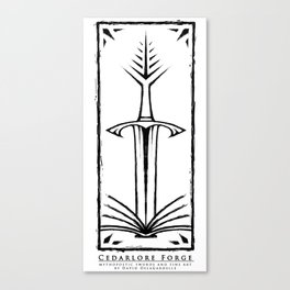 Cedarlore Forge Logo Canvas Print