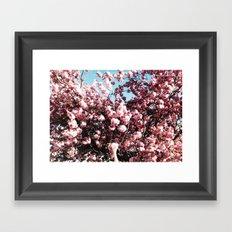 BLOSSOM GRAB Framed Art Print