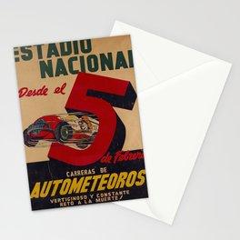 estadio nacional carreras de autometeoros Affiche Stationery Cards