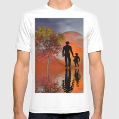 sky is on fire and I must go White Mens Fitted Tee MEDIUM