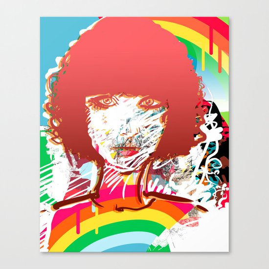 retro girl Canvas Print