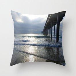 Scripps Pier Throw Pillow