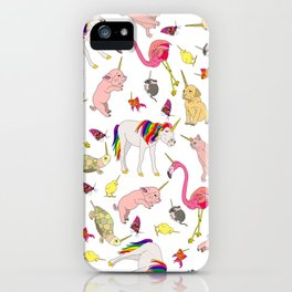Unicorn Animals iPhone Case
