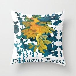 Dragons Exist digital artwork Throw Pillow