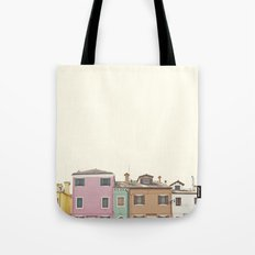 Colored Houses Tote Bag