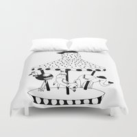 carousel Duvet Covers featuring Carousel by Laurenji Bloom